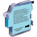 CARTOUCHE JET  GENERIQUE BROTHER LC1100 LC980  LC985 CYAN 750 PAGES