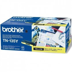 TONER LASER ORIGINAL BROTHER TN135 JAUNE 4000 PAGES