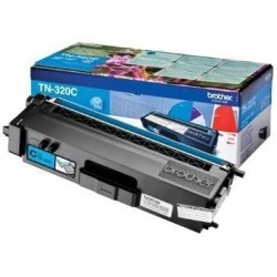 TONER LASER ORIGINAL BROTHER TN320 CYAN 1500 PAGES