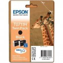 PACK DE 2 CARTOUCHES JET D'ENCRE ORIGINAL EPSON T0711H NOIR 2x11.1ML