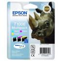 PACK DE 3 CARTOUCHES JET D'ENCRE ORIGINAL EPSON T1006 CMJ 3x11.1ML