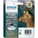 PACK DE 3 CARTOUCHES JET D'ENCRE ORIGINAL EPSON T1306 CMJ 3x10.1ML