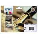 PACK DE 4 CARTOUCHES JET D'ENCRE ORIGINAL EPSON T1626 CMJN