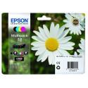 PACK DE 4 CARTOUCHES JET D'ENCRE ORIGINAL EPSON T1806 CMJN
