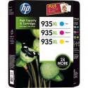 PACK DE 3 CARTOUCHES JET D'ENCRE ORIGINAL HP F6U78A COULEUR N°935XL