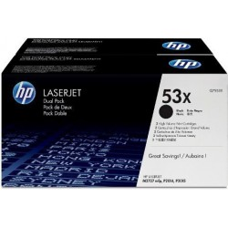 TONER LASER ORIGINAL HP Q7553XD DOUBLE PACK NOIR 53X 2x7000 PAGES