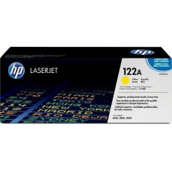 TONER LASER ORIGINAL HP Q3962A JAUNE 122A 4000 PAGES