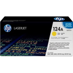 TONER LASER ORIGINAL HP Q6002A JAUNE 124A 2000 PAGES