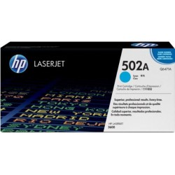 TONER LASER ORIGINAL HP Q6471A CYAN 502A 4000 PAGES