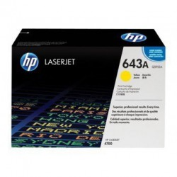 TONER LASER ORIGINAL HP Q5952A JAUNE 643A 10000 PAGES