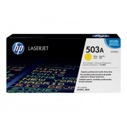 TONER LASER ORIGINAL HP Q7582A JAUNE 503A 6000 PAGES