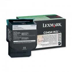 TONER LASER ORIGINAL LEXMARK C540A1KG C540/X543 NOIR 1000 PAGES