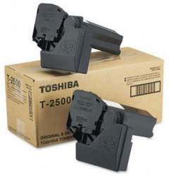 LOT DE 2 TONERS PHOTOCOPIEUR ORIGINAL TOSHIBA T2500E NOIR