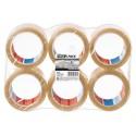 6 Adhésifs d'emballage polypropylène transparent 66 m x 50 mm - TESA