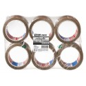 6 Adhésifs d'emballage polypropylène havane 66 m x 50 mm - TESA